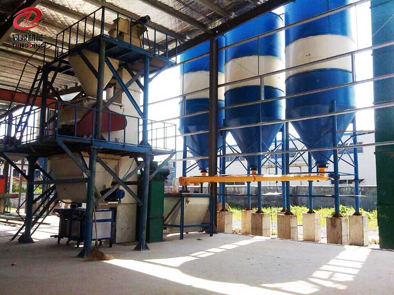Automatic Double Shaft Agravic Dry Mix Moatar Production Line